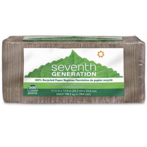Seventh Generation 100% Recycled Napkins 1-Ply Brown 500ct