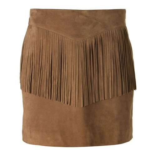 SAINT LAURENT Fringed Mini Skirt