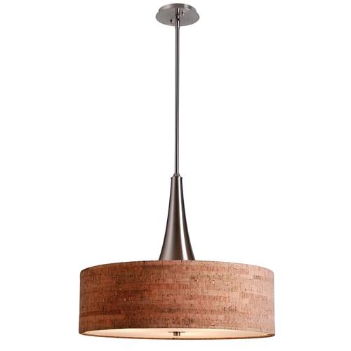 Kenroy Home 93013BS - Bulletin 3 Light Pendant Brushed Steel Finish