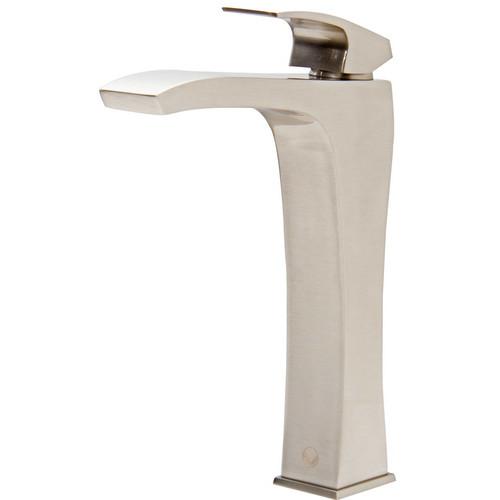 VIGO Blackstonian Bathroom Vessel Faucet in Brushed Nickel [VG03018BN; Brushed Nickel]