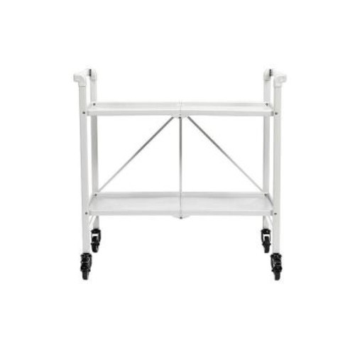 Cosco Smartfold White Serving Cart