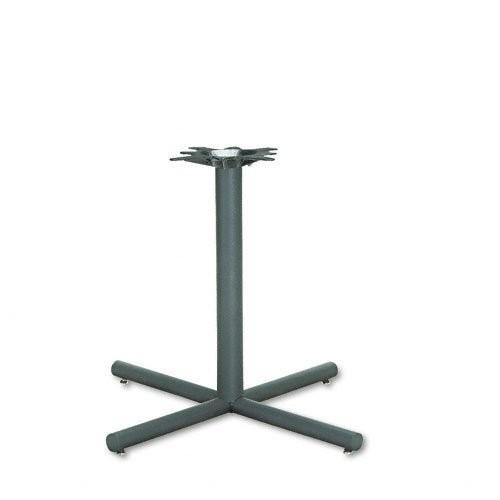 HON XSP36P Single Column Steel Base, 36w x 36d x 27-7/8h, Black [Black, 36