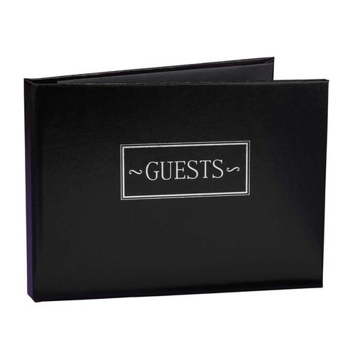 Black Small Guest Book