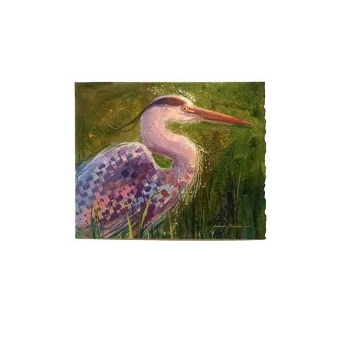 Island International Artists Blue Heron Original