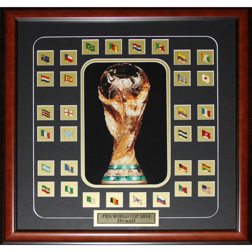Fifa 2014 World Cup Final 32 Team Pins Soccer Frame