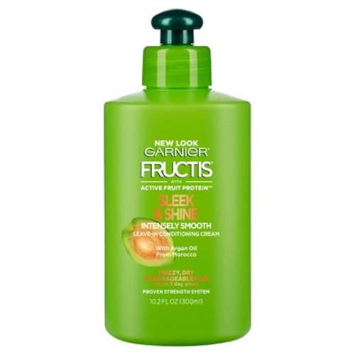 Garnier Fructis Sleek & Shine Intensely Smooth Leave-In Conditioning Cream, 10.2 Fl. Oz. [1 Count]
