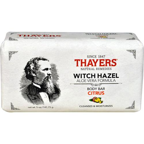 Thayers Witch Hazel Aloe Vera Formula Body Bar Citrus -- 5 oz