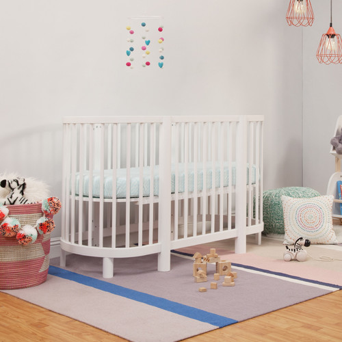 Babyletto Hula Oval Convertible Crib - White