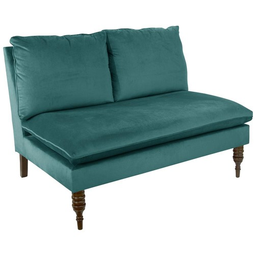 Armless Mystere Peacock Love Seat