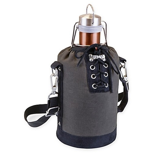 Picnic Time Growler Tote with 64 oz. Stainless Steel Growler in Copper/Grey