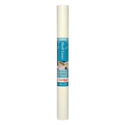 Con-Tact Brand Non-Adhesive Simple Elegance Shelf Liner - White Herringbone (18