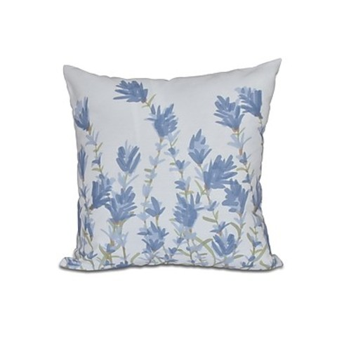 Alcott Hill Orchard Lane Lavender Floral Outdoor Throw Pillow; 18'' H x 18'' W