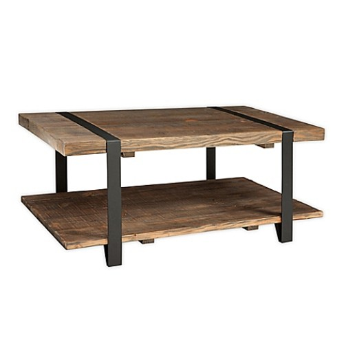 Modesto Metal and Reclaimed Wood 42-Inch Coffee Table