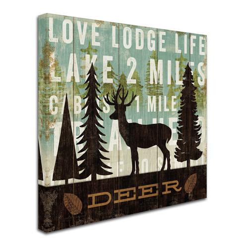 Trademark Global Michael Mullan 'Simple Living Deer' Canvas Art