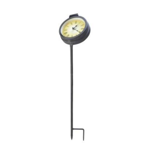 Moonrays Solar Powered Outdoor LED Clock Stake Light