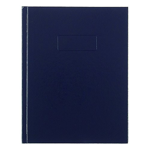 Rediform Business Notebook with Cover, College Rule, 9.25 x 7.25 Inches, Blue, 192 Page Pad (A982)