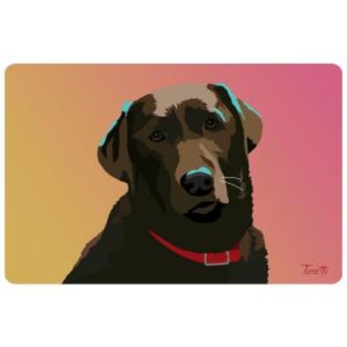 Bungalow Flooring Printed Chocolate Lab 32 17.5 in. x 26.5 in. Mat