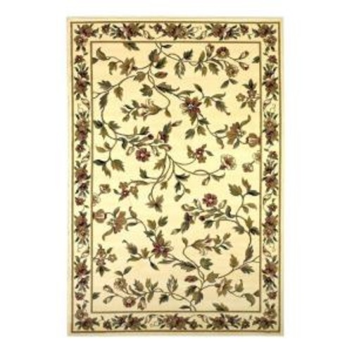 Kas Rugs Classic Trellis Ivory 3 ft. 3 in. x 4 ft. 11 in. Area Rug