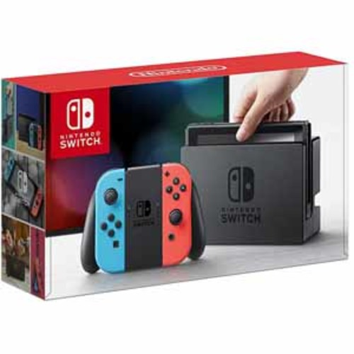 Nintendo - Switch 32GB Console with Neon Red/Neon Blue Joy-Con