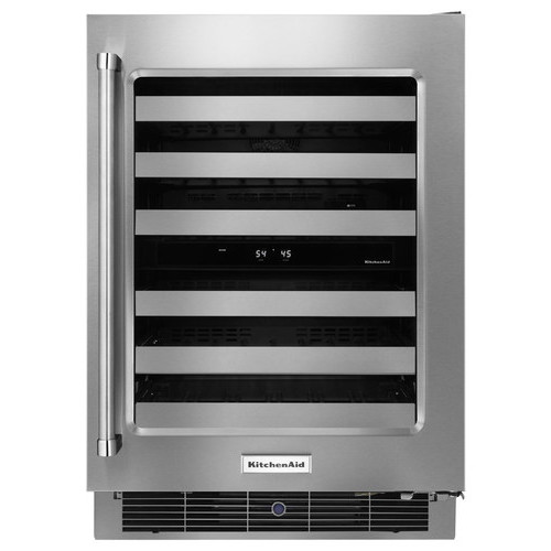 KitchenAid - 46-Bottle Wine Cellar - Stainless Steel