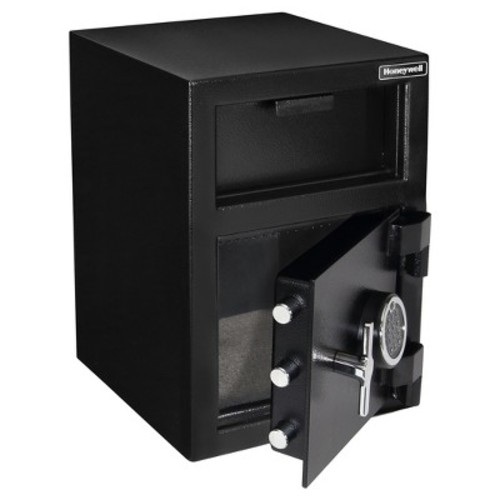 Honeywell Safes 1.06 cu. ft. Steel Fire-Resistant Depository Security with Digital Lock, 5912