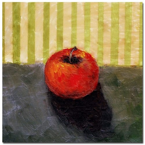 Trademark Global Michelle Calkins 'Red Apple Still Life' Canvas Art [Overall Dimensions : 14x14]