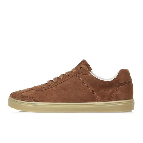Light brown suede sneakers