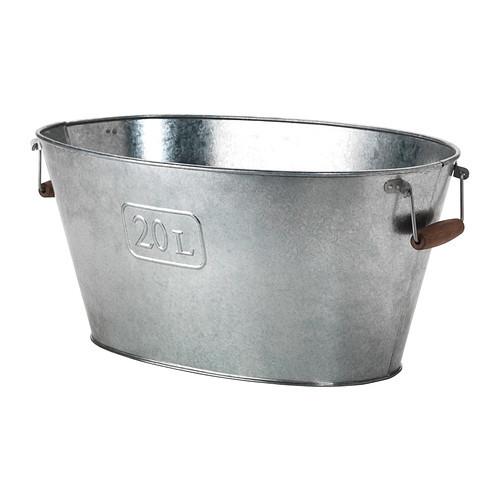 GRSLK Plant pot, oval indoor/outdoor, oval galvanized galvanized