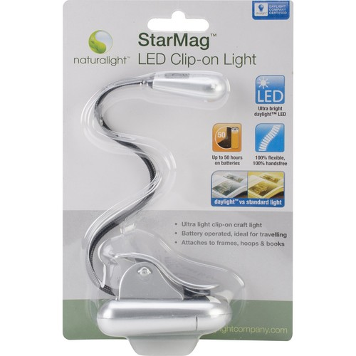 DAYLIGHT Naturalight StarMag LED Clip-On Light-Matte Silver