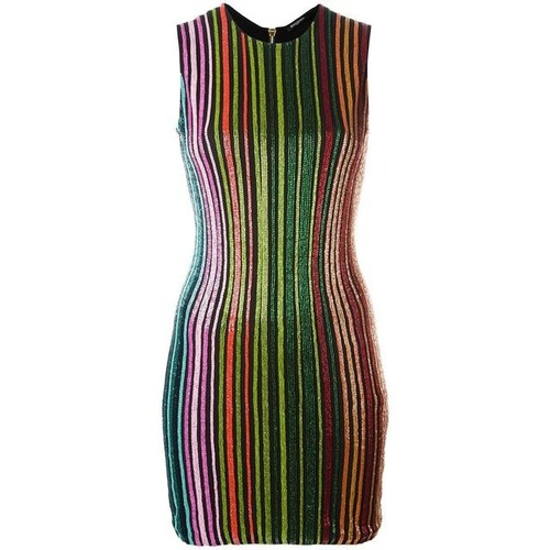 BALMAIN Striped Sequin Dress