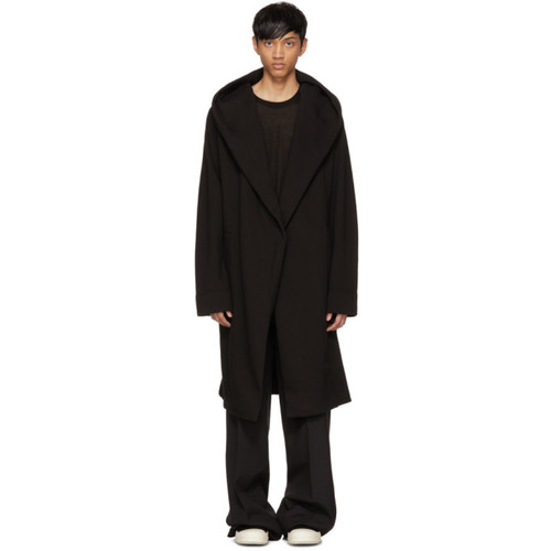 RICK OWENS DRKSHDW Black Spa Robe Cardigan