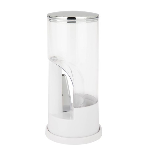 Zevro Indispensable Plastic Coffee Dispenser, 8 Oz, White