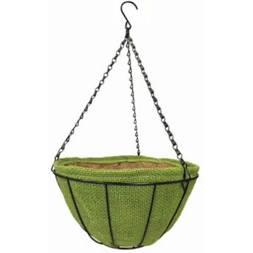 Gardener Select Basket 14'' Metal Hanging Planter w/ Coco Liner