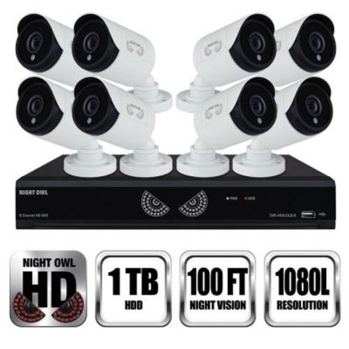 Night Owl 8-Channel 1080 Lite 1TB Surveillance DVR with 8 x 1080p Cameras