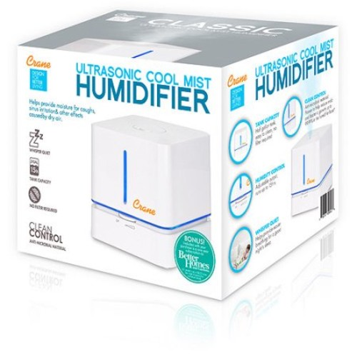 Cube Ultrasonic Cool Mist Humidifier - White