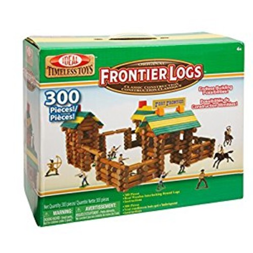 Ideal Frontier Logs 300 Piece Classic Wood Construction Set with Action Figures [1]