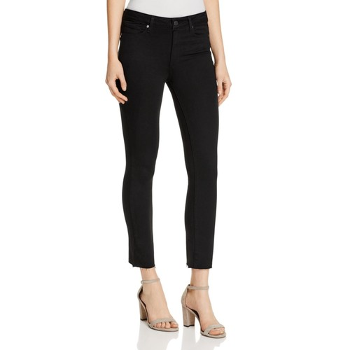 PAIGE Jacqueline Straight Crop Jeans In Black Shadow