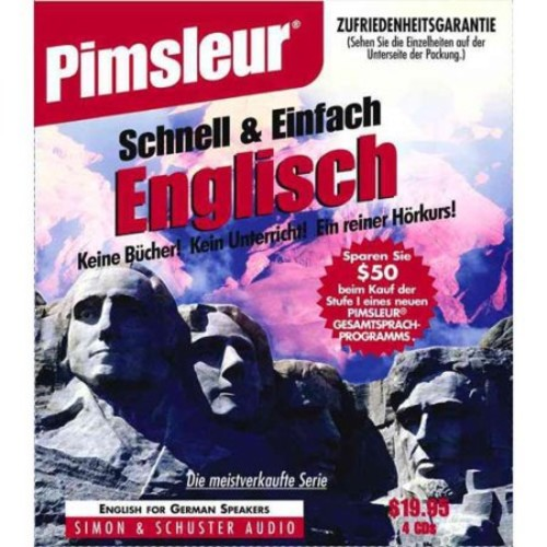 English for German Speakers : Learn to Speak and Understand English As a Second Language With Pimsleur Language Programs (CompactDisc)