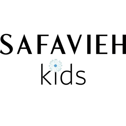 Safavieh Kids Little Decorator Blue and White Childrens Club Chair