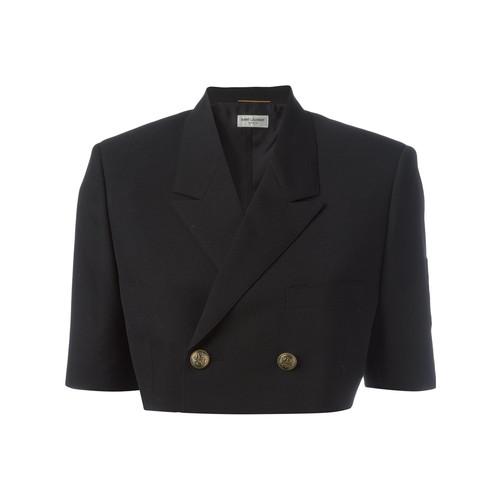 SAINT LAURENT Oversized Deconstructed Spencer Officer Jacket