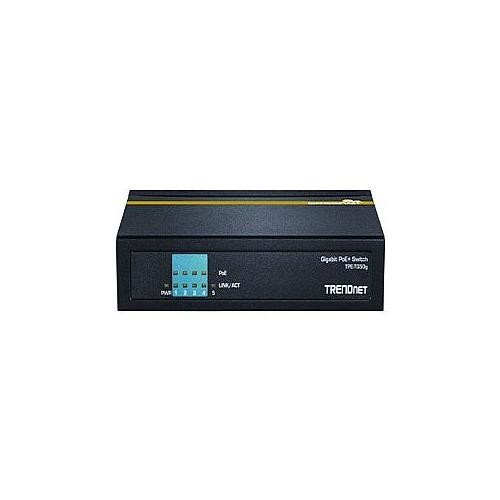 TRENDnet 5-Port Gigabit PoE+ Switch  4x 10/100/1000(PoE+), 1x 10/100/1000, Desktop, Plug and Play, Gigabit Ethernet Network TPE-TG50g