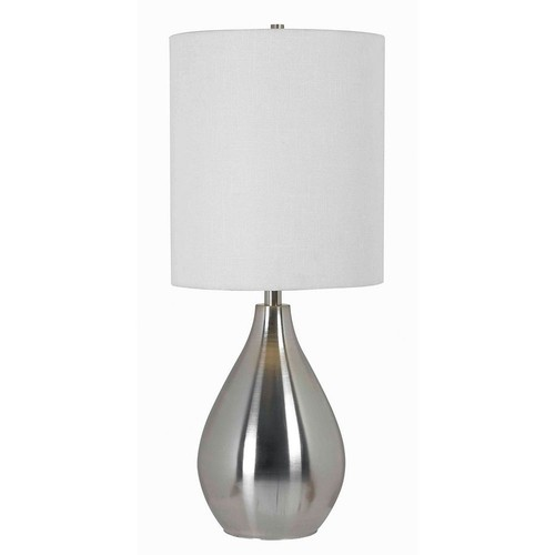 Kenroy Home 32156BS Droplet Table Lamp in Brushed Steel Finish