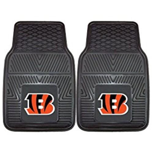 FANMATS NFL Cincinnati Bengals Vinyl Heavy Duty Car Mat [Front]