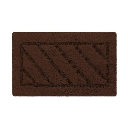 BERRNOUR HOME Soft Hand Tufted Cotton Natural Runner Washable Bath Rug, 20-Inch-by-31-Inch, Brown [Brown]