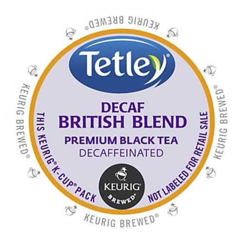 Tetley British Blend Decaf Black Tea - DeCaffeinated, Black Tea - British Blend - K-Cup - 24 / Box