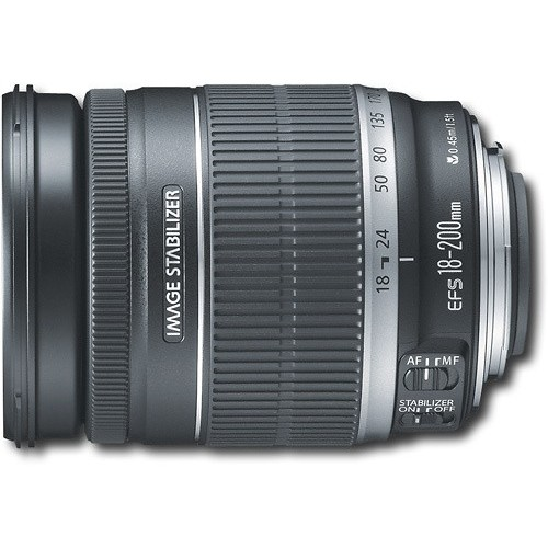 Canon EF-S 18-200mm f/3.5-5.6 IS Standard Zoom Lens for Canon DSLR Cameras [Standard Packaging]