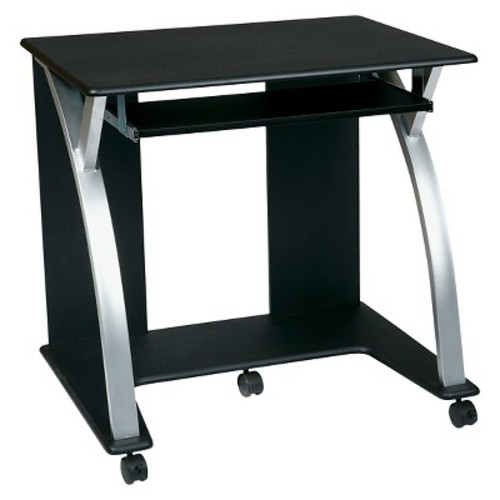 Computer Cart Black/Silver - Office Star