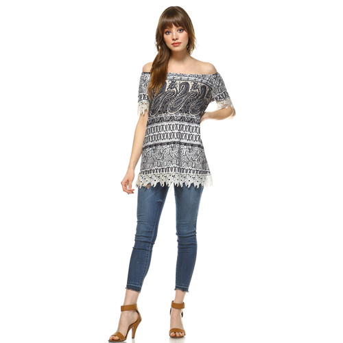 White Mark Women's Rosella Off The Shoulder Top [Fit : Women's]