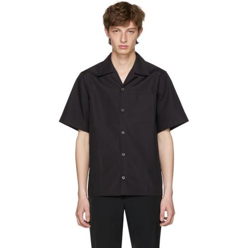PRADA Black Poplin Bowling Shirt