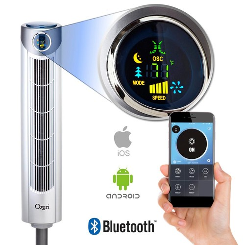 Ozeri Ultra 42 Oscillating Tower Fan with Bluetooth and Noise Reduction Technology